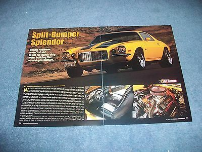 "1972 Camaro Rs Resto-mod Artikel "" Split-bumper Splendor Rally Sport Perfekte Verarbeitung"