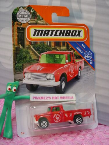2019 Matchbox /'62 Nissan Junior #89 Rot//Grün Lkw W Hitch ; Sriracha Service
