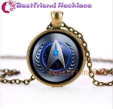 NEW Star Trek Movie Steampunk Glass Bronze necklace for men woman Jewelry#TZ41