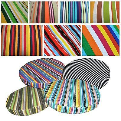 """2/""""//5cm Round Box Shape Cover*Modern Cotton Canvas Chair Seat Cushion Case *AL5"""