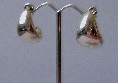 925 Sterling Plain Silver Drop Butterfly Earrings