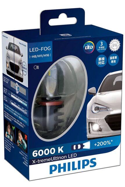 Philips Xtreme Ultinon LED Headlight Foglight Car Bulbs H8 H11 H16 Twin