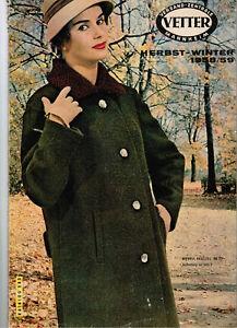 1db1ba75aa17a3 Das Bild wird geladen Versandkatalog-Katalog-Versandhandel-Vetter-1958-1959- Kleidung-Moebel-