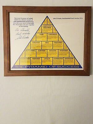 Pyramid of Success 8x10 Print Framed John Wooden UCLA Autograph Replica Print