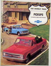1968 68 Chevy Chevrolet pickup truck sales brochure