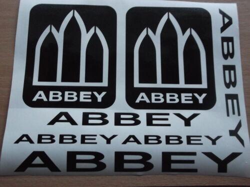 ABBEY CARAVAN  STICKERS X 7