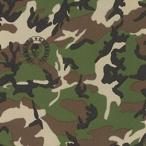 Image is loading Rasch-Designer-Camouflage-Pattern-Wallpaper-Military-Army -Metallic-