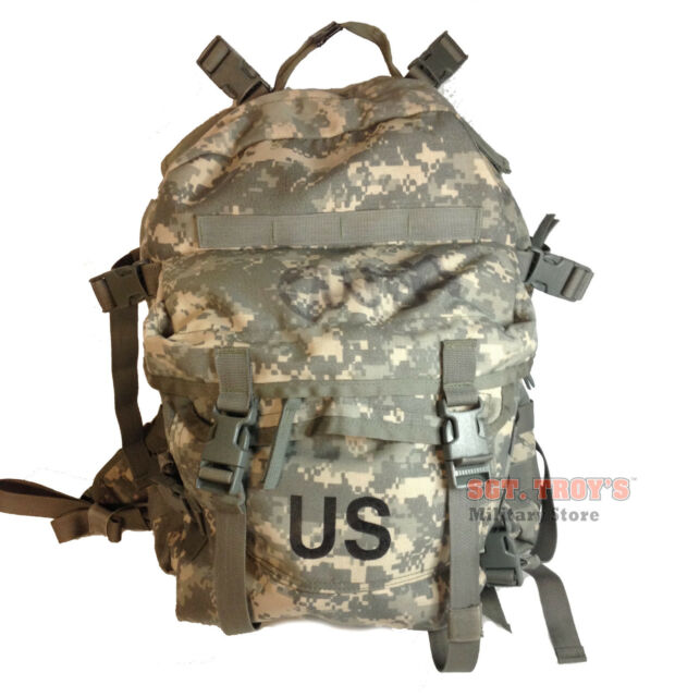 US ARMY ACU ASSAULT PACK 3 DAY MOLLE II BACKPACK BUG OUT BAG Good No  Stiffener b26a3b550b2