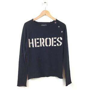 Zadig-amp-Voltaire-Heros-Sweater-M-Black-100-Cashmere-Pullover-Women-s-Rare