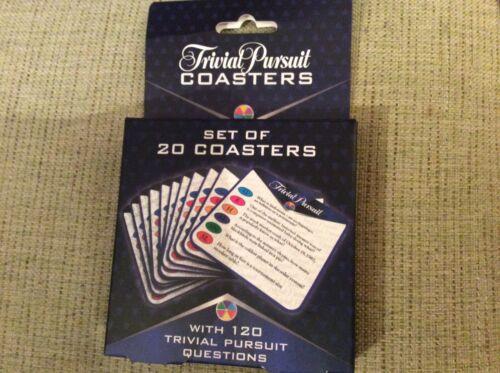 Entièrement neuf sous emballage NEUF lot de 20 Trivial Pursuit Coasters 120 questions