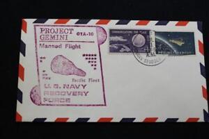 Naval-Espace-Housse-1966-Gemini-GTA-10-Recuperation-Bateau-Uss-B-Stoddert