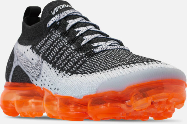 meilleur site web efed0 6299b Nike Air Vapormax Flyknit 2 Running Shoes Grey Black Orange Sz 12 942842 106