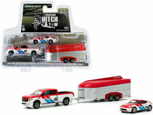 Greenlight 31090-C BRE Nissan Titan XD und Nissan 370Z #46-Hitch/&Tow 1:64 NEU°