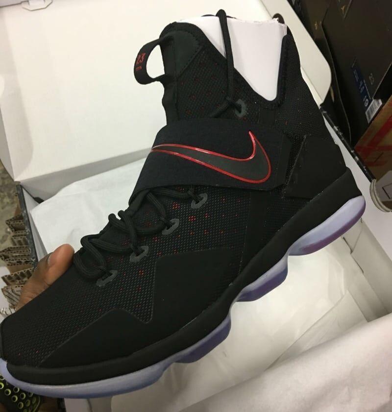New Nike Lebron James 14 XIV Bred  852405 004 University Black and Red Size 9.5
