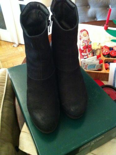 Paul Green Stiefeletten Plateau Boots Nubuk schwarz Gr. 4