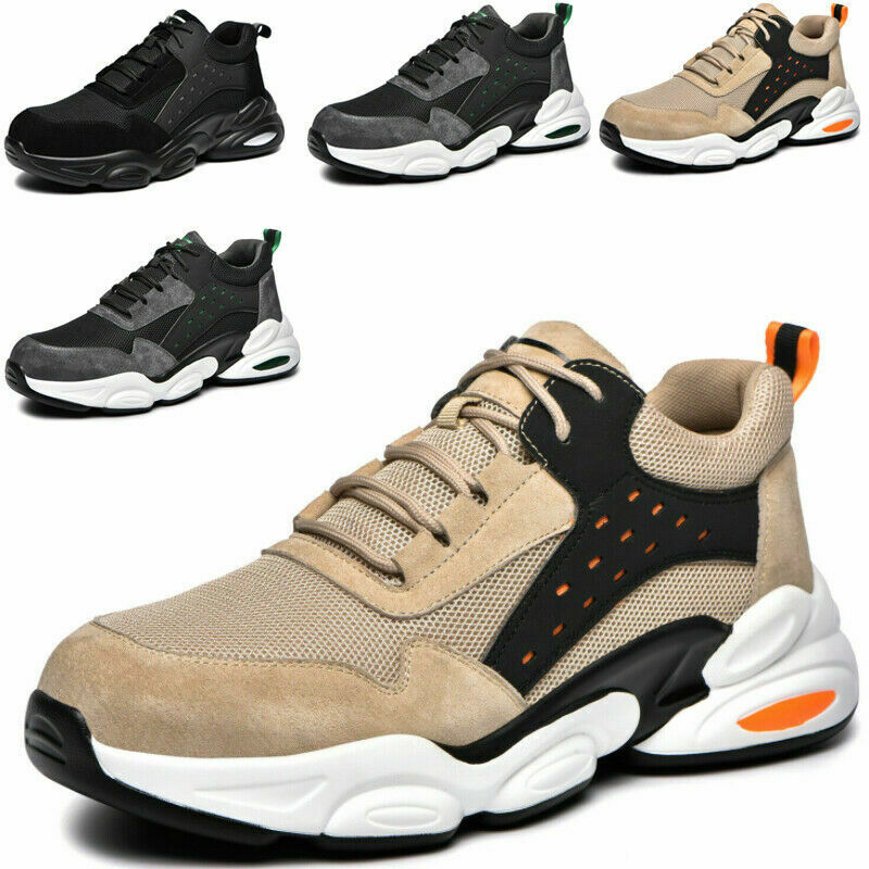 Mens Safety Shoes Work Trainers Womens Steel Lightweight Toe Cap Hiking Boots UK