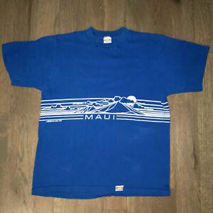 3cb6985a VINTAGE 80s Crazy Shirts Hawaii Maui Blue T-Shirt 1980 M Medium or S ...