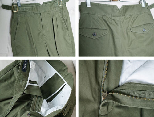 Vintage Gurkha Pants UK Army Men/'s Military Chino Staight Taper Casual Trouser