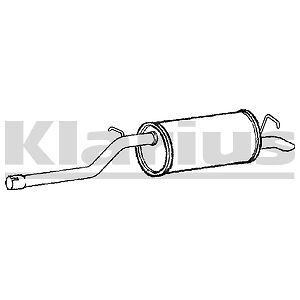 VW CADDY III 2.0 SDi 2004-2010 Exhaust Rear Silencer
