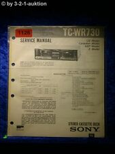 Sony Service Manual TC WR730 Cassette Deck  (#1126)