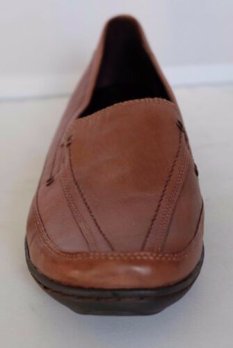 M/&S Women/'s Shoes Wider Fit Dark Taupe Leather Slip On Style