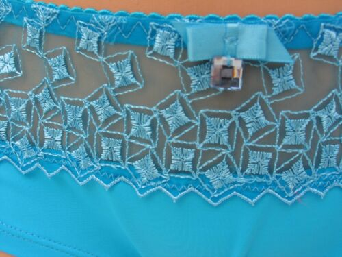 KNICKERS SIZES 10 /& 14 TURQUOISE BLUE SMOOTH STRETCHY TOPAZ LADIES PANTIES BNWT