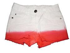 NEU Pepperts tolle Jeans Shorts Gr. 128 weiß-orange !!