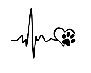 heartbeat lifeline paw print car decal sticker cat dog vinyl heart love window ebay kitty paw print clip art free cat paw print clipart