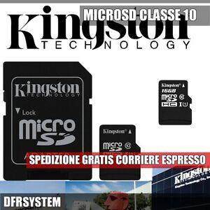 MEMORIA-MICRO-SD-16GB-Kingston-con-Adattatore-SD-Classe-10-SDC10-16GB-OFFERTA