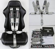 "1 TANAKA GRAY 5 POINT CAMLOCK RACING SEAT BELT HARNESS 3"" SFI 16.1 CERTIFIED"
