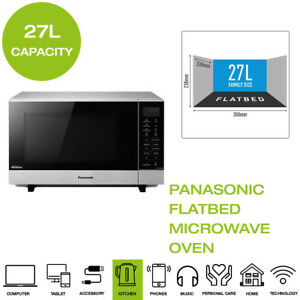 Details About Brand New Panasonic Nn Sf464mbpq Flatbed Microwave Oven 27l