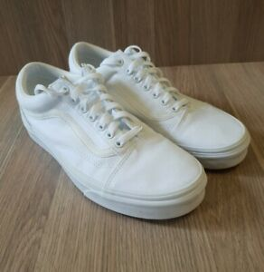 Vans-500714-white-lace-up-skate-shoes-Size-men-039-s-US-10-UK-9-Practically-new