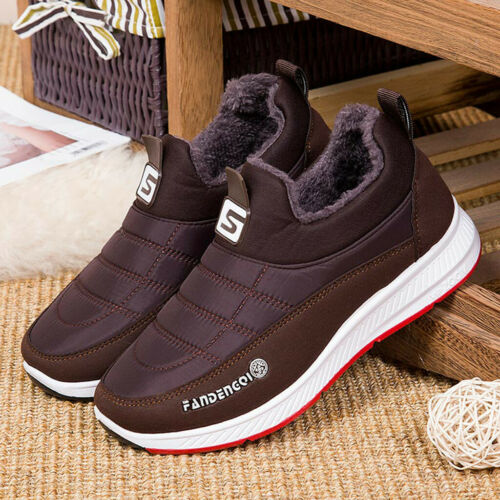 Women/'s Men/'s Casual Winter Keep Warm Slip On Round Toe Short Ankle Boots Shoes