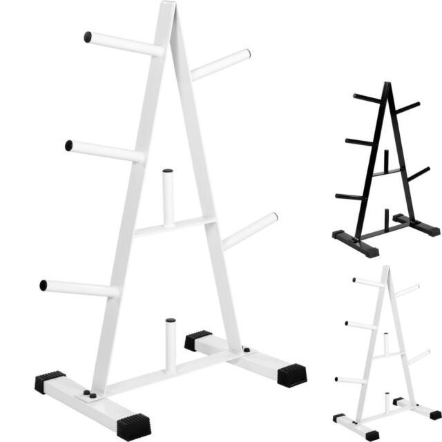 MOVIT® Rack de rangement pour poids en blanc