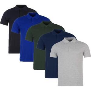 JACK-amp-Danny-039-s-Premium-Camicia-Polo-Maglia-Maniche-Corte-Tinta-Unita
