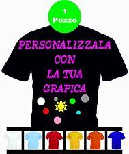 1  Maglietta T-shirt Nera Personalizzata con le vostre scritte loghi foto etc.