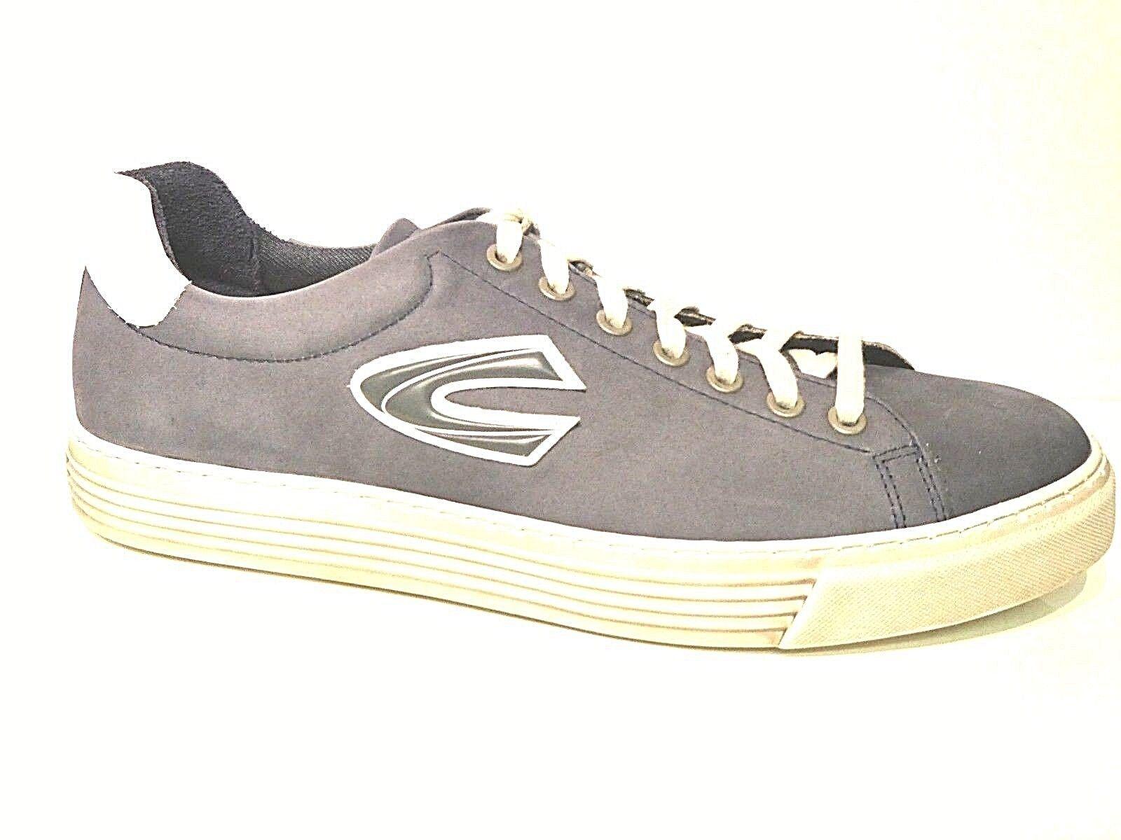 Camel Active Herren Schuhe Sneaker Skater Bowl navy blau washed weiß Leder
