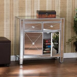 Mirrored-Storage-Cabinet-Drawers-Dresser-Chest-Table-Bedroom-Nightstand-1-or-2