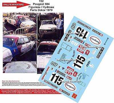 DECALS 1//43 REF 0721 PEUGEOT 504 BOUIN RALLYE PARIS DAKAR 1980 RALLY