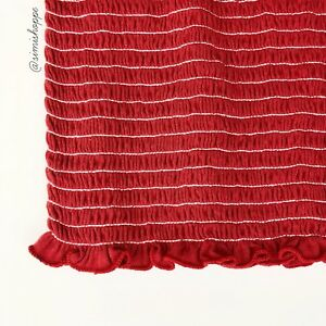 b08e10310ac NEW Brandy Melville Red Cleo Smocked Tube Top One Size