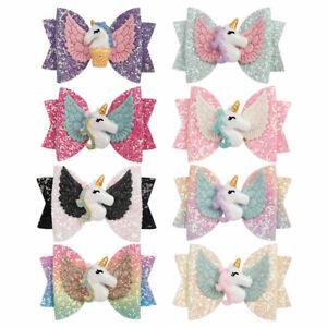3-034-Hair-Bows-for-Girls-Rainbow-Glitter-Hair-Clips-Cute-Unicorn-Wing-Hairpins
