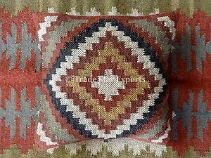 Vintage-Kelim-Rug-Cushions-18x18-Handmade-Kilim-Pillow-Cover-Throw-Pillow-Shams