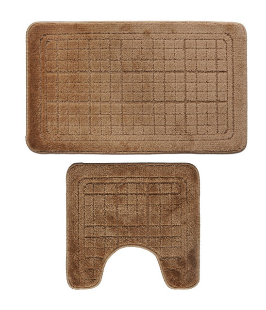 surprising Latex Backed Throw Rugs Part - 12: Bathroom Area Rugs Mats Set 2 Piece Extra Soft Latex Backing Non Slip Adds  and