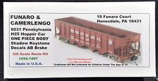 LMH Funaro F&C 8031 PENNSYLVANIA  H25 4-Bay Hopper Car  PRR Shadow Keystone 1-PC