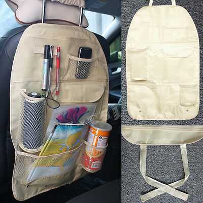 Car Auto Back Seat Organizer Bags Assorted Bag Pocket Beige #JT1 E0Xc