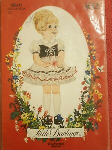 Little Darlings By Enchanted Forest Child's 1 Pc Dress Sz 1,2,3 Vintage Pattern