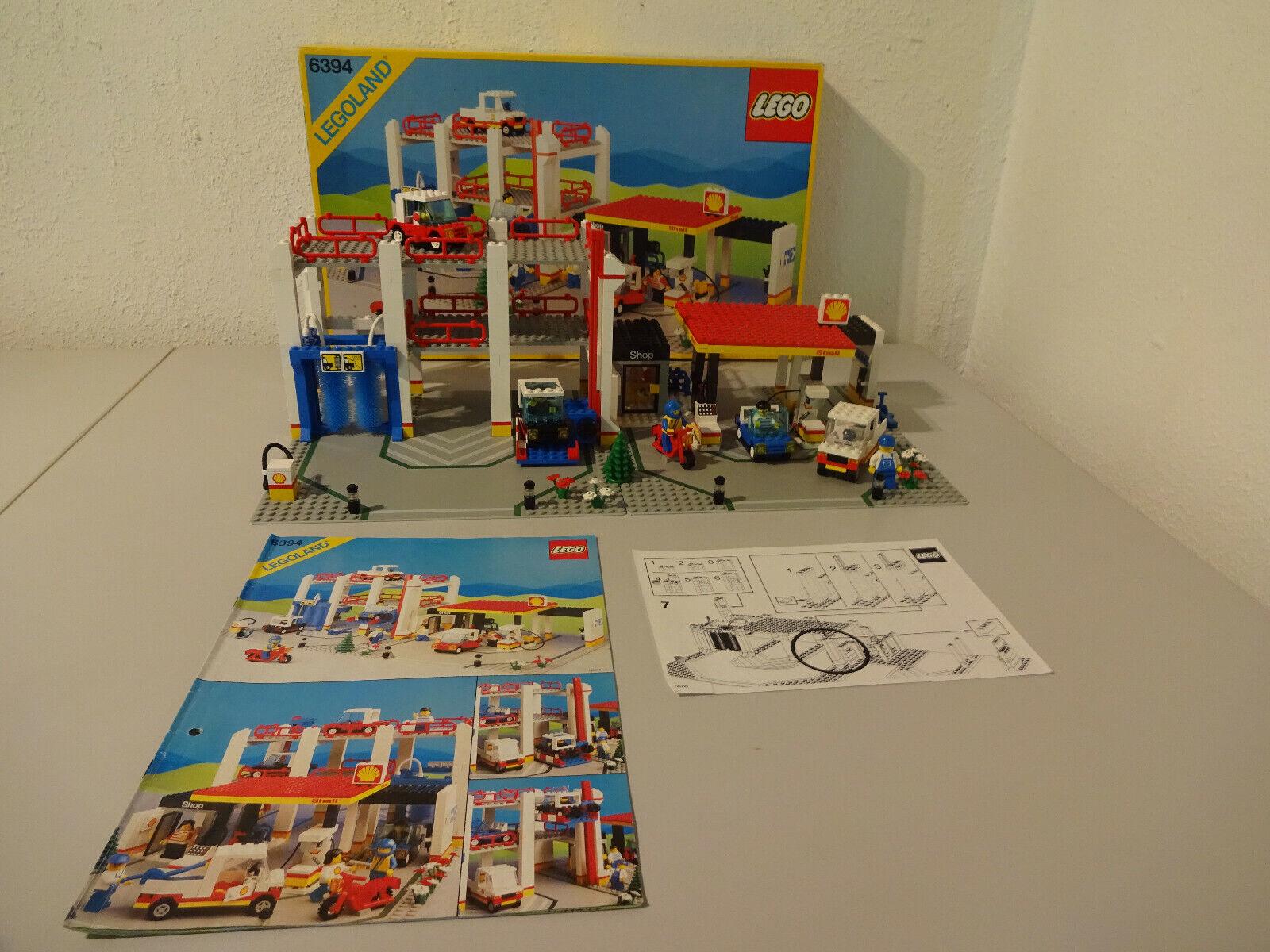 (GO) Legole 6394  con OVP & BA parcheggio stazione di servizio 100% completamente intarsio RARO  nessun minimo