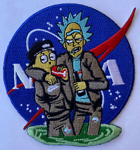 RICK-AND-MORTY-NASA-SPACE-MORALE-COLLECTIBLE-IRON-ON-SEW-PATCH-3-5