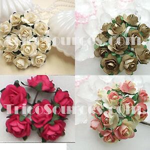 Trico silk flower craft mulberry paper rose 60 flowers x 12flower image is loading trico silk flower craft mulberry paper rose 60 mightylinksfo