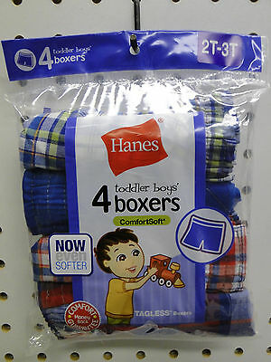 6pr Toddler Boy/'s Hanes White Briefs Underwear Sizes 2T-3T or 4T